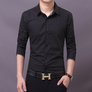 2015 Spring and Autumn new men's long-sleeved shirt male Korean Slim casual long-sleeved shirt business young star point