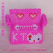 Hand-beaded bead DIY kit fashion Book box tissue box creative sofa home car ornaments