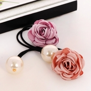 Know Connie hair Korea cloth looped rubber band flowers jewelry made by Pearl hairpin hair rope end flower hair clips hair band