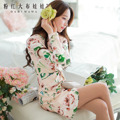 Pink long sleeve dress slim slimming fashion doll 2015 spring new dress dresses