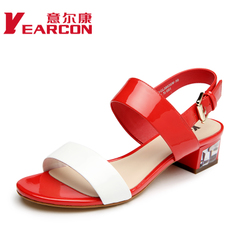 Kang shoes 2015 summer styles in leather fashion Korean rhinestones shoes women Sandals women