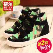 Becky 2015 new high sneakers women's shoes in the Korean version of camouflage sneakers high breathable casual shoes