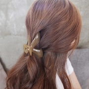 Know Connie hair accessories Korean jelly Joker medium Barrette caught between simple coiled hair catch the tail-clip jewelry