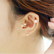 Cool na Korean sweet fine jewelry ~ faux Pearl Stud Earrings non-pierced Korean jewelry 2229