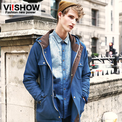 Viishow mens new winter warm coat men's cotton-padded clothes jacket suit jacket flashes on off season clearance
