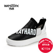 Westlink West fall 2015 new casual leather stitching helps muffin in thick-soled sports shoes SZ