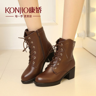 Kang Jiao Martin tide girls boots ankle boots, women's boots in the autumn wind system in England with chunky heels with Gao Bangchao shoes boots short tube