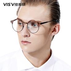 维斯威新款记忆金属装饰眼镜框女 韩版复古圆形全框近视眼镜架男