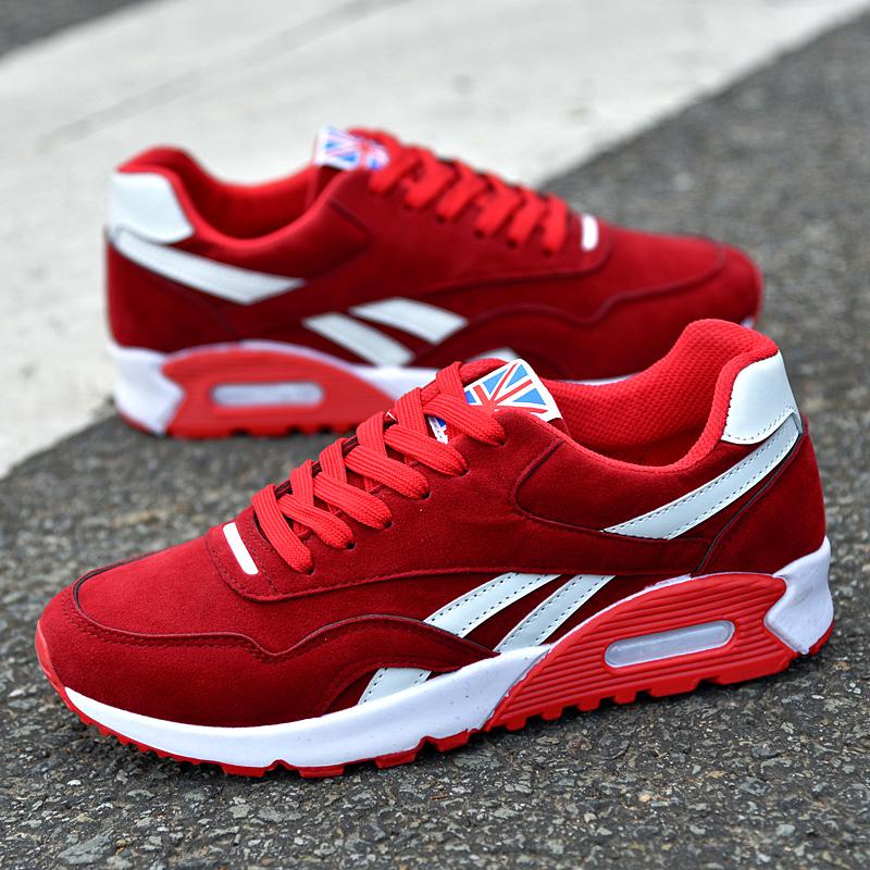 秋季新品男鞋透气网鞋男士气垫鞋运动休闲鞋跑步鞋韩版学生板鞋子