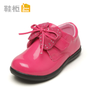 Shoebox shoe 2015 spring cute bow shoes specular PU girls casual shoes 1115434105
