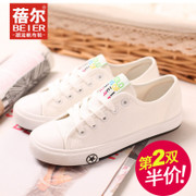Fall 2015 the new Becky couple sneakers girl Korean version of tide low shoes women's flat shoes