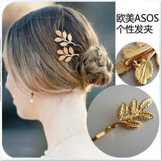 Email Korea jewelry in Europe and exaggerated explosions leaves personality Barrette Korean hair clip accessories