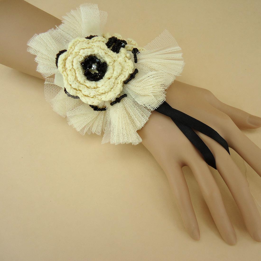 日韩欧美复古小清新配饰森系流行时尚蕾丝花朵手链 原创饰品