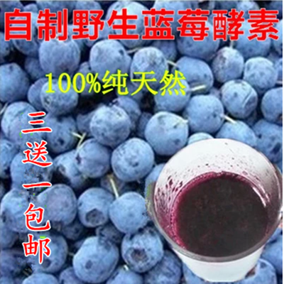 【3送1包邮】野生蓝莓水果酵素 原液浓缩 自制蓝莓水果 酵素500g
