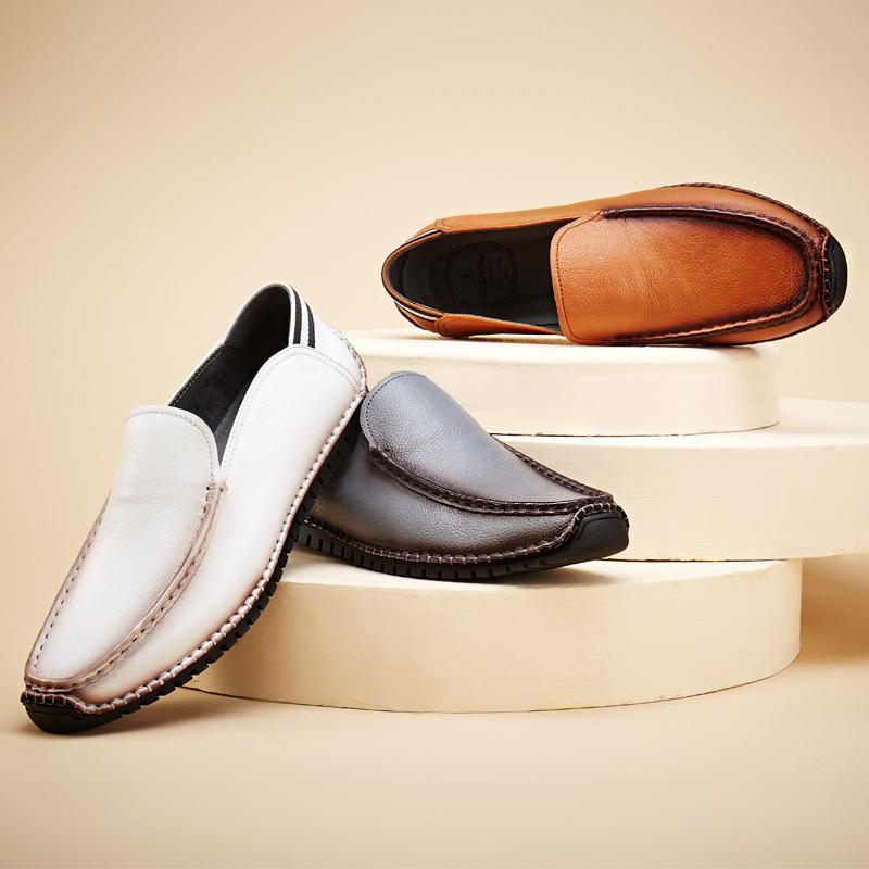 布莱希尔顿2016春季真皮豆豆鞋男士休闲鞋韩版男鞋套脚低帮鞋超软