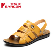 YEARCON/con men's shoes new Korean version 2015 summer casual peep-toe dual-use fashion men's cool shoes