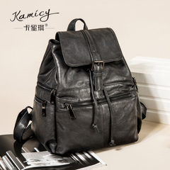 Camilla Pucci autumn/winter new style leather backpack leather bag fashion trends leisure travel Academy wind bag