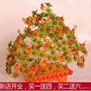 Handmade beaded jewelry DIY Kit home decoration lucky silver spoon tree money tree Peony flower tree money tree