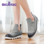 Exull q2015 new autumn fashion Joker shoes platform u-wipe to a light boots heel women shoes 15175211