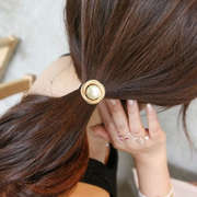Know Nicole sweet spiral Pearl heads new tiara hair band hair band rope ring tie flowers hair accessories