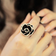 Nano Korea Jewelry Diamond-black roses opening rings ring girls 1278