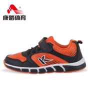 Kang step children's running shoes winter new Velcro shoes non-slip light running shoes youth sneakers