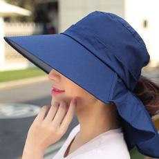 帽子女夏天韩版大沿防紫外线防晒太阳帽 折叠骑车女士沙滩遮阳帽