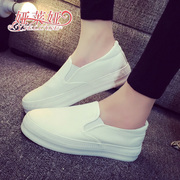 Fall of yalaiya thick-soled casual shoes sneakers women with one pedal Lok Fu shoes the Korean version of the lazy man shoe breathable muffin