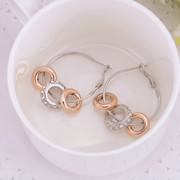 Good jewelry earrings Korea fashion earring female Korean temperament exaggerated female hoop earrings earring