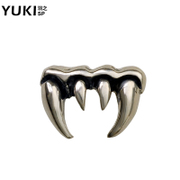YUKI Thai silver jewelry 925 Silver Stud Earrings for men and women flashes vintage Gothic punk vampire teeth Club accessories