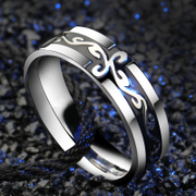 Wing domineering Dragon ring Long Jiezi titanium steel rings men''s accessories men''s index finger national single Korean fashion