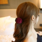 Korea hair accessories flower catch the clip grab Barrette hair clip ponytail clip made by the Korean version of the medium flower head Lady Queen caught clips