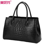 2015 new autumn bag ladies and women's shoulder bag handbag crocodile pattern simplicity tide: diagonal package big bag Pack