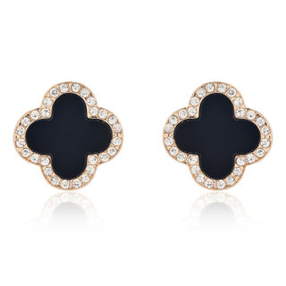 Love Korea jewelry sparkling rhinestone ear studs earrings fashion Korean temperament dinner ear jewelry