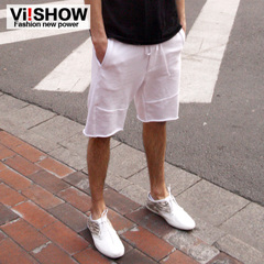 Viishow summer dress new shorts men's straight leg cotton fashion metropolis in Europe and America men's casual shorts