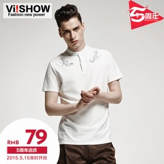 Viishow2015 summer dress new fashion solid color short sleeve POLO shirts short sleeve polo short sleeve t-shirt Paul Chao