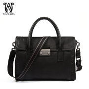 Wanlima/around 2016 man bag leather new men solid color men's bag slung leisure handbag