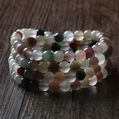 Bao Crystal natural high violet-green agate ring bracelet Lady Wu Ge personally cut bracelets jewelry