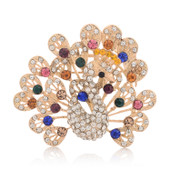 A031 Korean jewelry rhinestones brooch corsage Peacock pin brooch brooch