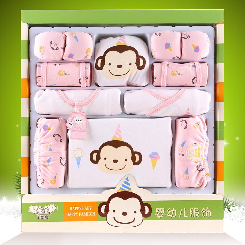 婴儿衣服夏季纯棉0-3个月6新生儿礼盒套装春秋刚出生宝宝满月用品
