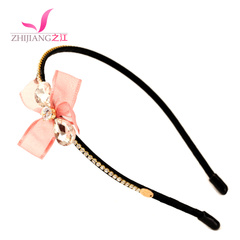 Zhijiang bow headband Korea simple Crystal ladies and children issuing fine hair hoop headwear hair jewelry