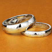 Wing-new Lord of the rings child couple ring titanium steel men''s rings men''s ring on ring style lettering