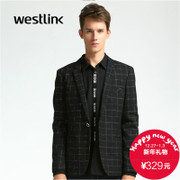 Westlink/XI 2015 winter New England casual button slim men's Plaid jacket