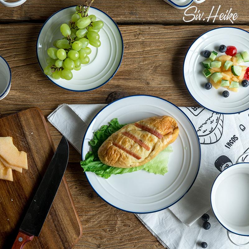 西芙欧式创意家用大盘子陶瓷餐具菜盘汤盘平盘饺子盘西餐盘牛排盘