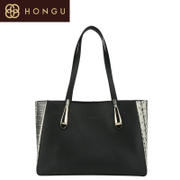Honggu Hong Gu 2015 counters authentic new stylish snakeskin pattern stitching leather portable bag 6982