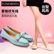 Feibolier FBL summer skin pointy bows low and comfortable women's shoes FB51115831
