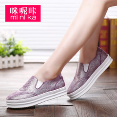Microphone clicking new Lok Fu shoes female thick-soled casual Korean version of lazy shoes fashion shoes flat feet shoes