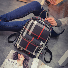 About female beauty for 2015 new Korean wave Plaid bag for fall/winter fashion shoulder bag backpack school bag backpack