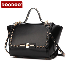 Doodoo rivets handbags for fall/winter bat wings small portable single shoulder slung Orange bag 2015 new tide