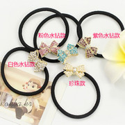 Good good hair Korea first jewelry small rhinestone Butterfly jewelry hair tie string rope color sorting